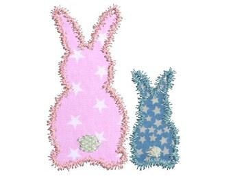 Instant download Machine Embroidery  design applique Rabbits
