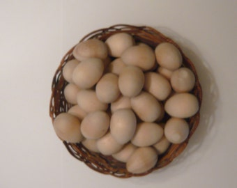 Wooden Eggs Unfinished  Life Size