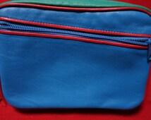 VINTAGE LEATHER CLUTCH Purse Bag Brilliant colours