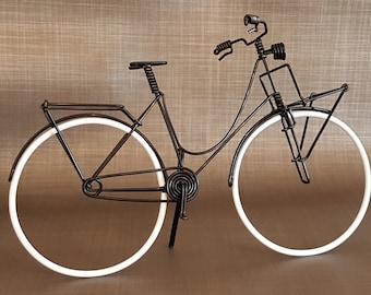 Bike Dutch Miniature carrier / Transporter Dutch bike in aluminum wire