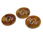 Engraved MonogramAcrylic Discs Only for Wire Wrapped Bracelet Bauble Tortoise Shell Pearl and More Acrylic Only