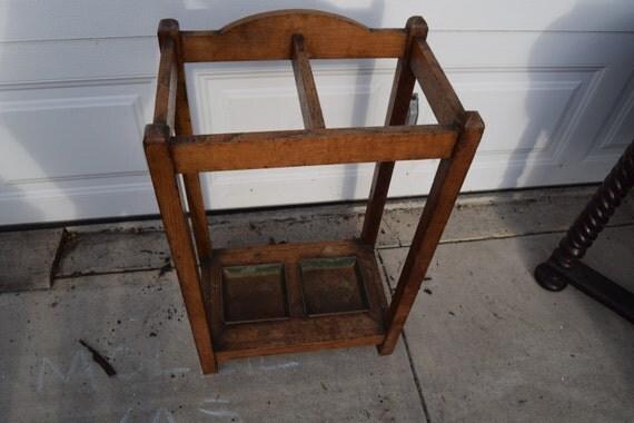 Antique Mission Arts Crafts Umbrella Stand