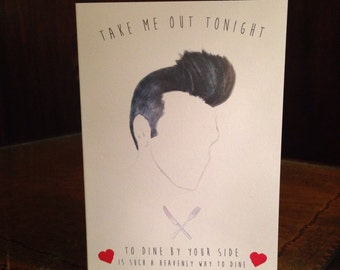 Morrissey The Smiths Love Card. Blank inside.