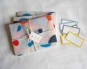 Shapes & Lines ( Mix and match ) - Set of 6 Handmade Illustrated Envelopes for Letter writing / Snail mail