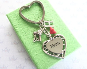 Mum keyring - Hairstylist gift - Mum Birthday gift - Hairstylist keyring - Mother's Day gift - Hairdresser gift - Gift for mum - UK seller