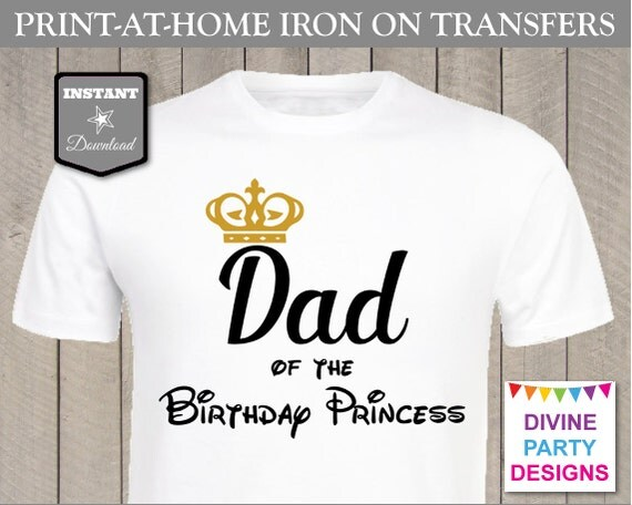Instant download print at home dad of the birthday for Instant t shirt printing