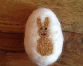 Easter Egg Rabbit Bunny Spring Waldorf wool natural organic decorative ornament trends March April May Handmade toy soft cute decoration