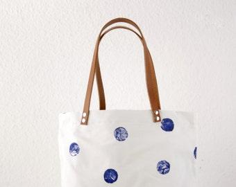Blue dot Messenger bag