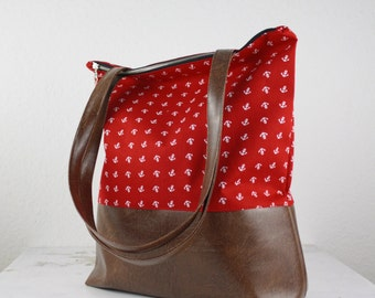 NEW! Red anchor bag Messenger