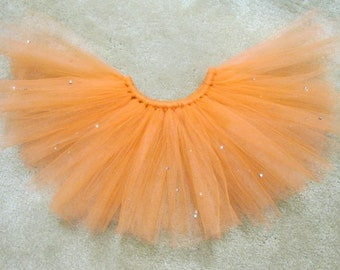 Orange Blinged Tulle Tutu