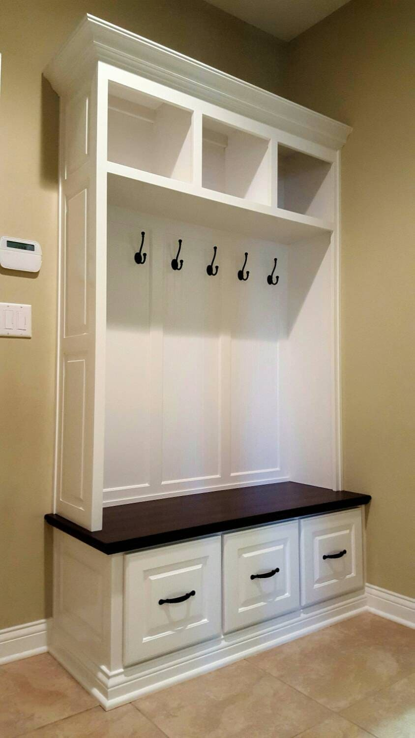 Mudroom Storage For Sale : Mudroom lockers bench storage furniture by speckcustomwoodwork