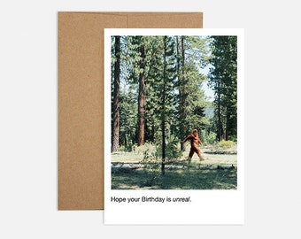 Bigfoot Birthday Greeting Card