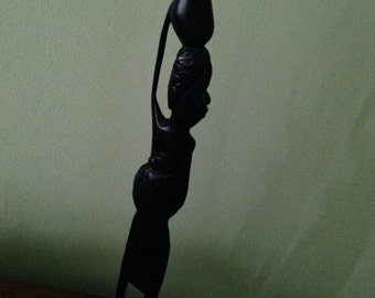Antique African Ebony Statue