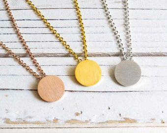 Rose Gold Necklace-circle