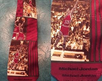SALE Rare Vintage Michael Jordan Necktie by Bugatchi Uomofor.