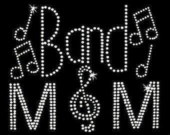 Rhinestone Tranfer - Hot Fix Motif - Band Mom