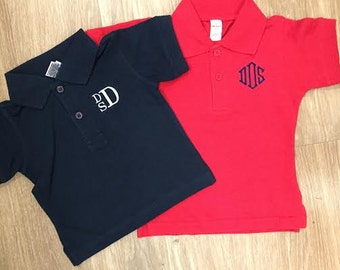 Monogrammed Infant/Toddler Polo Shirt