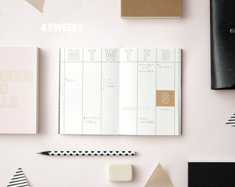 BONJOUR PLANNER - Scheduler Notebook Diary Scheduler