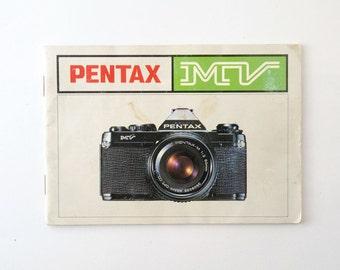 Pentax MV Instructions Manual