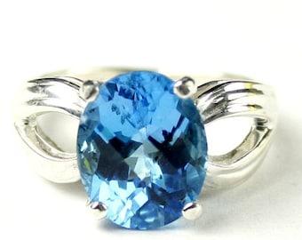 Summer Sale, 30% Off, KSR361, Swiss Blue Topaz, 925 Sterling Silver Ring