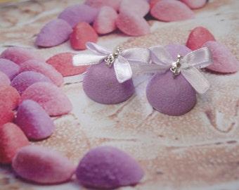 earrings candy purple