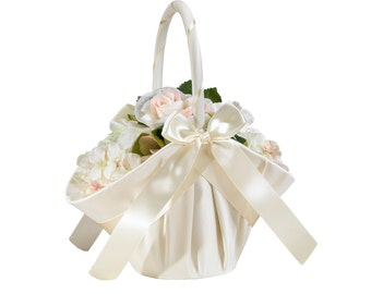 Satin Flower Girl Basket-LR