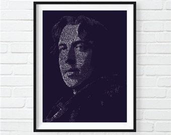 Typographic Oscar Wilde Print