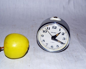 Soviet alarm clock USSR  Soviet Union Vintage period 1970s Sevani Home Decor Working