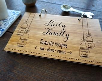 Mason Jar Recipes Book Bridal Shower Gift Housewarming Hostess Present Holiday Stocking Stuffer Under 20 Gift Blank Kitchen Notebook