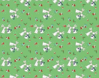 Pixie Noel Snow Bunnies Green - C5252-Green by Tasha Noel for Riley Blake Designs