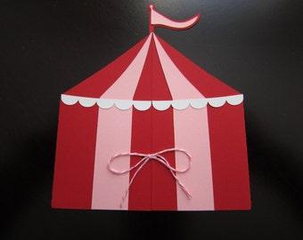 Circus Tent Invitation & Tent Invitation