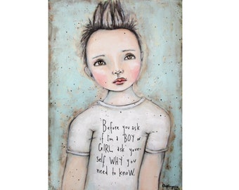 Before you ask - Art print, giclee print from original arylic art
