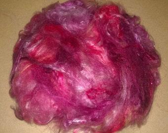 ButterSilk Fiber - Make Art Batts -Art yarn  & More- Fluffy soft and textured- Cabernet