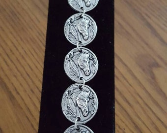 Silver Horsehead bracelet