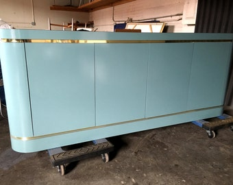 Modern Hollywood Regency Credenza Buffet