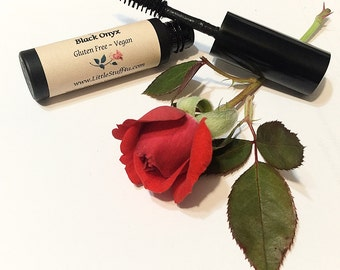Natural Organic Mascara - Vegan Mascara - Gluten Free Natural Makeup - Mineral Mascara Black or Brown
