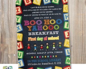 BOO HOO Breakfast Invitation / Digital / Printable