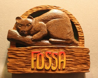 Custom carved wood signs | Handmade signs | Zoo signs | Animal Signs | Wildlife Signs