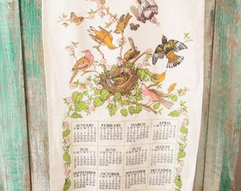 Calendar Tea Towel from 1981