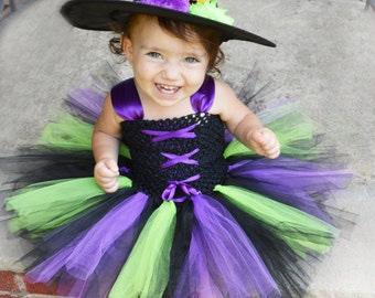 Little Witch Costume, Witch Tutu Costume, Baby Witch Costume, Adorable Baby Costume, Baby Halloween Costume, Tutu Halloween Costume, Witch
