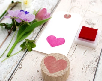 Love Heart - Hand Carved Rubber Stamps by Little Stamp Store