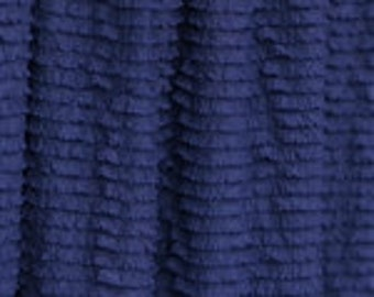 Soft Navy Blue Mini Ruffle Fabric 33""
