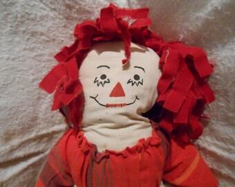 Raggedy Ann Doll A True Vintage Rag Doll