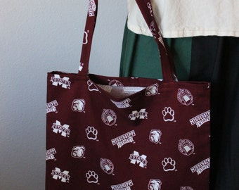 Mississippi State Fabric Tote Bag