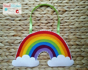 Sparkle Rainbow Cloud Hanging