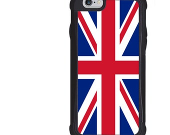 iPhone 5 5s 6 6s 6+ 6s+ SE 7 7+ iPod 5 6 Phone Case, United Kingdom Flag Design, UK, Union Jack, Plus