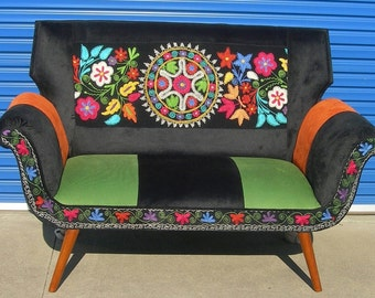 Antique Suzani handmade Couch