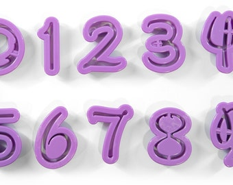 Disney Style Number Fondant Font Cutters - Quality Caking, Decorating, Crafting and Baking tools from Bakell!