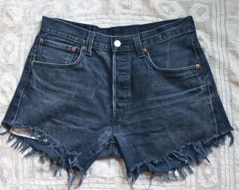 Black Cutoff Levi Shorts