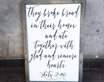 Acts 2:46 sign